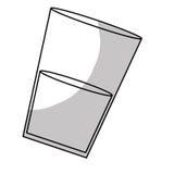 taza de cristal con imagen del icono de la bebida Fotografía de archivo libre de regalías