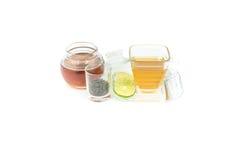 Taza de cristal con té Imagen de archivo libre de regalías