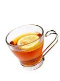 Taza de cristal de té con el limón Imagen de archivo libre de regalías