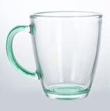 Taza de cristal vacía Imagen de archivo