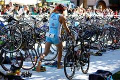 Taza de Cusio, Triathlon olímpico Fotos de archivo libres de regalías