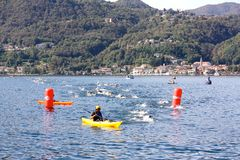 Taza de Cusio, Triathlon olímpico Fotografía de archivo