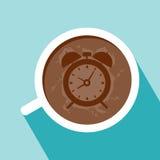 Taza de diseño plano del café Fotografía de archivo libre de regalías