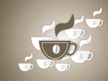 Taza de ejemplo del coffe Fotografía de archivo