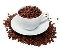 Taza de granos de café fotos de archivo