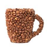 Taza de granos de café Fotografía de archivo libre de regalías