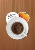 Taza de Halloween de café Foto de archivo libre de regalías