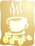 Taza de ilustración del café Fotografía de archivo