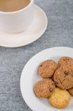 Taza de la galleta y de café Imagenes de archivo