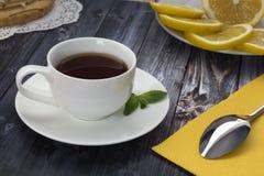 Taza de la mañana de té Imagen de archivo