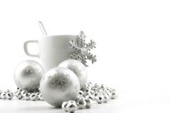 Taza de la Navidad Fotos de archivo