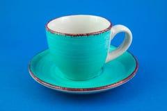 Taza de la turquesa Fotografía de archivo libre de regalías
