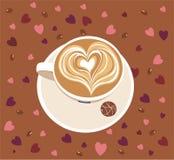 Taza de latte del caffee Foto de archivo libre de regalías