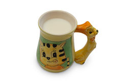 Taza de leche Fotos de archivo libres de regalías