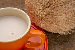 Taza de leche de coco Fotos de archivo