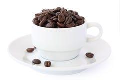 Taza de los granos de café Imagen de archivo libre de regalías