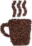 Taza de los granos de café Fotos de archivo libres de regalías