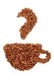 Taza de los granos de café Foto de archivo