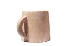 Taza de madera Imagen de archivo libre de regalías