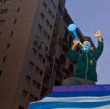 Taza de mundo 2010 en Montevideo Uruguay Imágenes de archivo libres de regalías