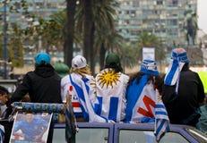 Taza de mundo 2010 en Montevideo Uruguay Fotos de archivo