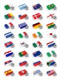 Taza de mundo del fútbol 2010 stock de ilustración