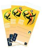 Taza de mundo del fútbol de la FIFA 2010 - muestra del boleto Fotografía de archivo
