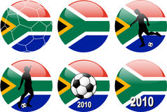 Taza de mundo del fútbol, Suráfrica Imágenes de archivo libres de regalías