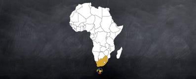 Taza de mundo surafricana del ordenador principal Fotografía de archivo