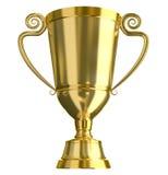 Taza de oro del trofeo