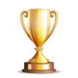 Taza de oro del trofeo Imagen de archivo libre de regalías
