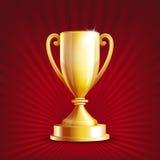 Taza de oro del trofeo Imágenes de archivo libres de regalías