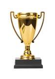 Taza de oro del trofeo imagenes de archivo
