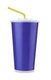 Taza de papel azul Foto de archivo