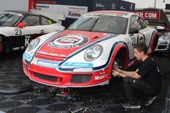 Taza de Porsche en Alemania Foto de archivo