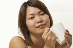 Taza de relajación de té Fotografía de archivo libre de regalías