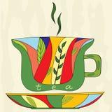 Taza de té ilustración del vector