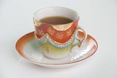 Taza de té altamente decorativa Imágenes de archivo libres de regalías