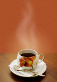 Taza de té caliente Fotografía de archivo libre de regalías