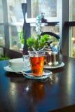 Taza de té caliente imagenes de archivo