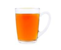 Taza de té caliente aislada imagen de archivo