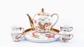 Taza de té china aislada Fotos de archivo