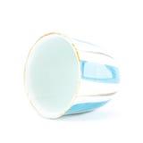 Taza de té china en el fondo blanco Imagen de archivo libre de regalías