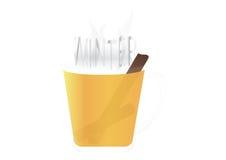 Taza de té con cinamomo Imagen de archivo