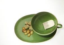Taza de té con el azúcar Foto de archivo libre de regalías