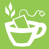 Taza de té con una bolsita de té Imagen de archivo
