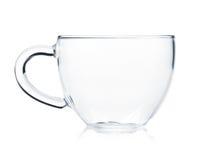 Taza de té de cristal vacía Imagen de archivo