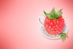 Taza de té de la frambuesa Imagen de archivo