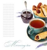 Taza de té de la mañana Imagenes de archivo