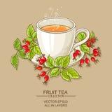 Taza de té de los escaramujos Foto de archivo libre de regalías